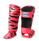 Twins Special Muay Thai Payak Tiger Kick Boxing Shin Guards Leather FSG2