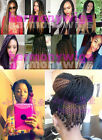 "22"" 3D Cubic Twist Crochet Braids Synthetic Hair Extensions Ombre Colors 120g"
