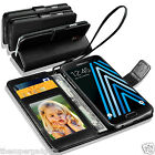 GENUINE REAL LEATHER WALLET CASE  FOR SAMSUNG GALAXY J3(2016) + SCREEN PROTECTOR