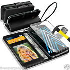 GENUINE REAL LEATHER WALLET CASE  FOR SAMSUNG GALAXY J3(2016) + TEMPERED GLASS
