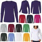 LADIES LONG SLEEVE, CLASSIC CREWNECK, PRESHRUNK COTTON T-SHIRT, XS-L XL 2X 3X