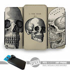 UNIVERSAL FIT Printed Phone Case Cover : Etching Skull Vintage Illustrations