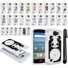 For LG Optimus Zone 3 VS425PP Spree K120 Crystal Bling HYBRID Case Cover + Pen