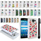 For Kyocera Hydro View C6742 Reach C6743 Crystal Bling HYBRID Case Cover + Pen