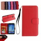 Lichi Texture PU Leather Wallet Flip Card Slots Case Cover for iPhone Samsung