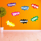 Batman Pow Whamm Splatt Bang Kapow Pow Crash Ooooff Wall Stickers Kids Decal A10