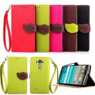 Wallet Leaf PULeather Slot Stand Cover Flip Silicone Cute Case For LG G4beat/G4S