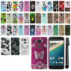 For LG Google Nexus 5X PATTERN HARD Back Case Protector Phone Cover + Pen