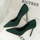 Sexy Women's Shoes Hot Style Work Ladies Pointed-toe Stiletto Suede High Heels