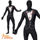 Adult Shot Gangster Second Skin Costume Morph Mens Godfather Fancy Dress Outfit
