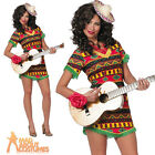 Adult Ladies Mexican Bandita Spanish Poncho Dress Costume Fancy Dress Outfit New