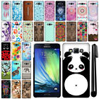 For Samsung Galaxy A7 A700 PATTERN HARD Back Protector Case Phone Cover + Pen