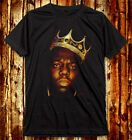 Rapper The Notorious B.I.G With Crown Biggie Smalls V / U Neck Dark Gray T-Shirt