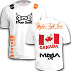 STRYKER CREST FLAG TAP MMA SHORTS SLEEVE T SHIRT TOP UFC OUT BJJ Canada tee w *