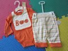 first impressions Infant Baby Boys Pumpkin Halloween creeper bib outfit set Size