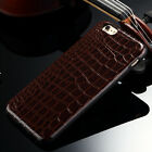 Alligator Grain PU Leather Soft Back Skin Case Cover For iPhone 5 5S 6 6S 7 Plus