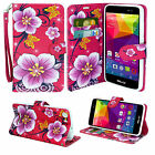 For BLU Studio 6.0 HD D650A Phone Case Hybrid PU Leather Wallet Pouch Flip Cover (Phone Wallet For Blu Studio Phone)
