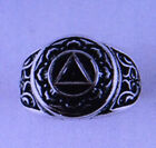 ALCOHOLICS ANONYMOUS RING - STERLING SILVER RING - SCROLL DESIGN