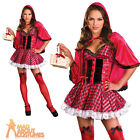 Adult Little Red Costume Ladies Sexy Fairytale Fancy Dress Outfit New