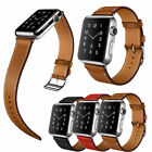 Genuine Leather Apple Watch Band Strap 38mm /42mm single Doubleh Bracelet band