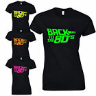 Back To The 80's Ladies Fitted T-Shirt Fancy Dress Neon Print Love 80s Party Top