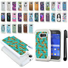 For Samsung Galaxy Ace Style S765C S766C Studded Bling HYBRID Case Cover + Pen