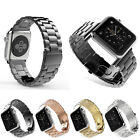 For Apple Watch Series 7 6 SE 5 4 3 2 Band Solid Stainless Steel Watchband Strap