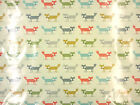 FOXES PVC MULTI G1 OILCLOTH FABRIC TABLECLOTH  BAG WIPE CLEAN FABRIC