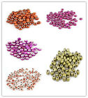 50pcs Mixed Color Printing Pattern Acrylic European Charms Bead Findings 14mm D
