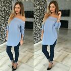 Sexy Women's Loose Long Sleeve Cotton Casual Blouse Shirt Tops Fashion Blouse