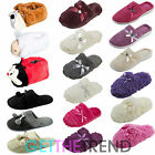 Ladies Womens Slippers Furry Winter Slip Ons Mules Novelty Slippers UK 3-8 Cheap