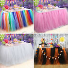 US 100*80CM TULLE TUTU TABLE SKIRT WEDDING XMAS PARTY HALLOWEEN DECOR SUPPLY