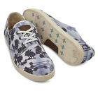 New Toms Mens Paseos Navy Palm Trees Canvas 10001211 Size 11.5 Sneakers Shoes
