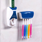Bathroom Automatic Toothpaste Squeezer Dispenser ToothBrush Holder Brush Rack