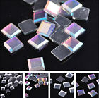 Iron On Hotfix Glass Faceted Square Crystal Rhinestone Spacer Loose Bead