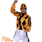 Adult Dettori Jockey #2 Costume Mens Grand National Horse Fancy Dress Outfit New