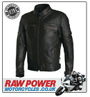 Richa Memphis Leather Motorcycle Motorbike Jacket - Black