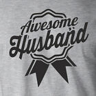 AWESOME HUSBAND Valentine's Day gift wedding ribbon funny trophy wife T-Shirt
