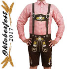 Men's Authentic Lederhosen German Bavarian Oktoberfest Trachten Short Outfit 675