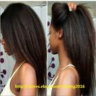 """12""""-18"""" Kinky Straight 100% Remy Human Hair Lace Wigs Full Lace/Lace Front Wig"""