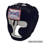 Twins Special Muay Thai Boxing MMA Full Face Head Gear Protector Black HGL3