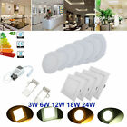 Ultra Slim Recessed LED Flat Panel Ceiling Spot Lights Downlights Spotlights NEW