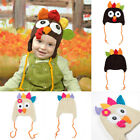Handmade Knit Turkey Baby Hat Thanksgiving Outfit Clothes Photo Props Newborn