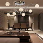 Seven-Globe Artistic Aluminum Ceiling Light Globes Pendant Semi Flush Mount Lamp