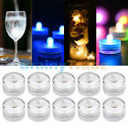 10pcs Submersible LED Lights Battery Powered Bright Tea Light Vase Party Decor