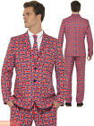 Adults Union Jack Stand Out Suit Mens British Fancy Dress Stag Do Comedy Outfit