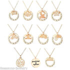 18K Rose Gold GP Sister Mom Family Forever In my Heart Pendant Necklace Gift Hot