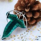 Green Leaf Pendant - Lord Of The Ring Jewelry Finding C6619 - 1, 2 Or 5PCs