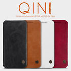 Nillkin Qin Premium Slim Faux Leather Flip Case for Motorola Moto G4 & G4 Plus