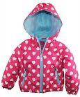 Pink Platinum Baby Girls All Over Heart Print Hooded Jacket Spring Coat
